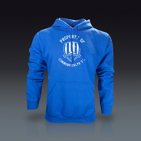 Blue Hooded Sweatshirt